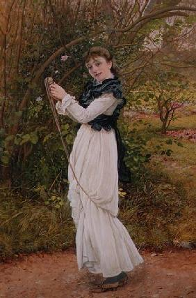 Skipping, portrait of the artist's daughter, Barbara