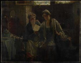 Two Women Visiting, 19th century