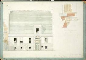Front Elevation of House for J.A.M. Whistler Esq, Tite Street, Chelsea