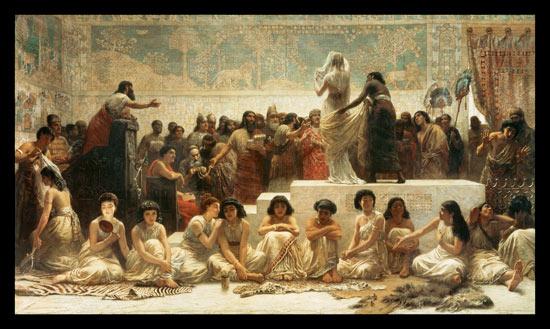 The Babylonian Marriage Market Edwin Long As Art Print