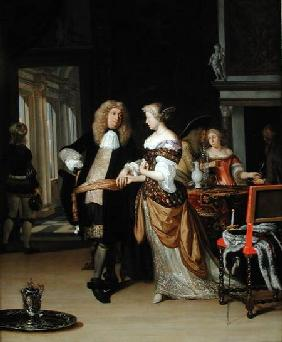 The Betrothal: A Young Couple in an Elegant Interior