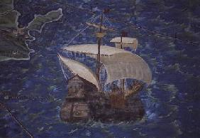 Galleon, detail from the 'Galleria delle Carte Geografiche'