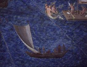 Single Sailed Boat, detail from the 'Galleria delle Carte Geografiche'