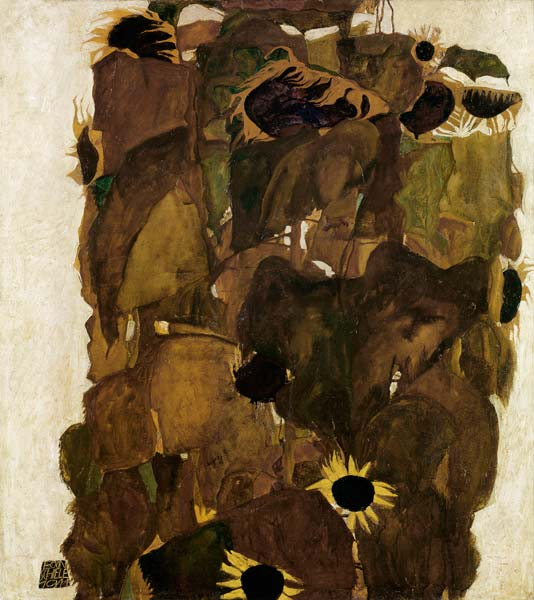 Sunflowers L Egon Schiele As Art Print Or Hand Painted Oil