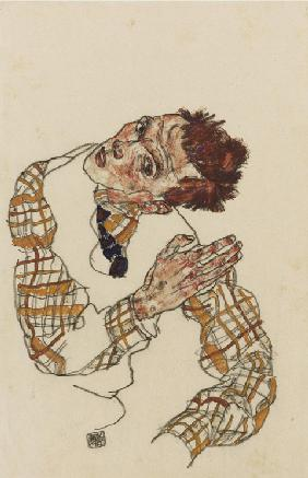 Self-portrait with checkered shirt
