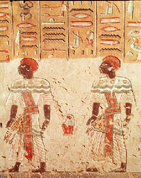 Nubian gods from the Tomb of Ramesses III (c.1184-1153 BC) New Kingdom