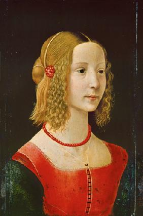 Portrait of a young girl.