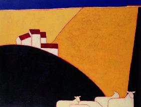 Tuscan Campagna, 1999 (acrylic on paper)