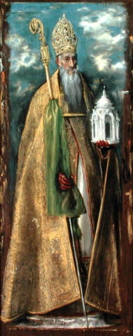 Saint Augustine Of Hippo 354 430 El Greco As Art Print