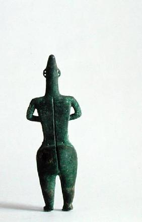 Back view of a human figurine thought to have had ritual connotations, from Marlik, Iran