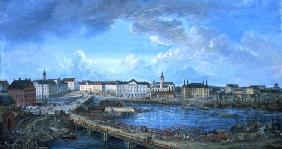View of Stockholm from the Royal Palace, 1801 (gouache on canvas)