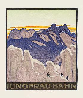 Jungfrau-Bahn, poster advertising the Jungfrau mountain railway