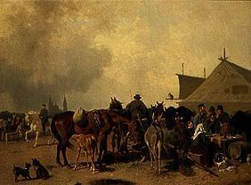 Horse market in Hungary