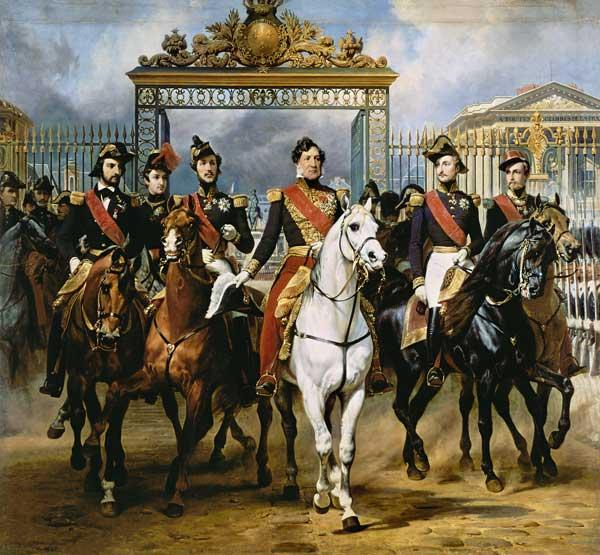 Louis Philippe and his sons to horse at this leave Versailles of lock.