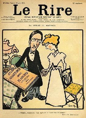 The day before the wedding, cartoon from the cover of ''Le Rire'', 26th August 1899
