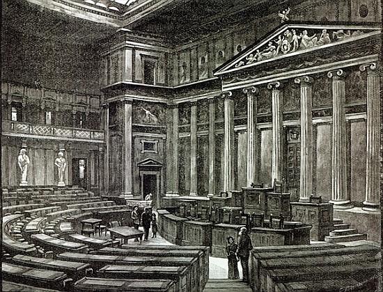 Interior of Houses of Parliament, Vienna - English School as art ...