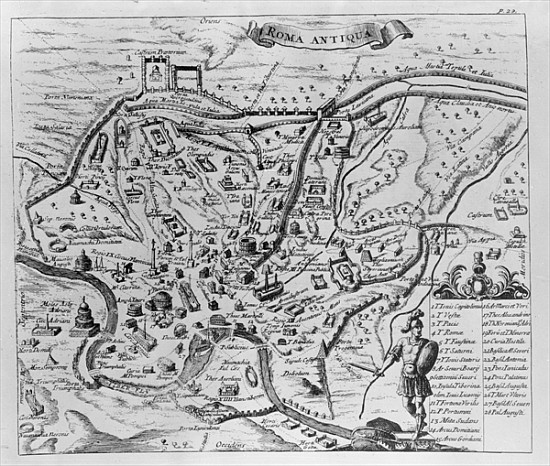 photo regarding Printable Map of Ancient Rome called Map of Historical Rome - English Faculty as artwork print or hand