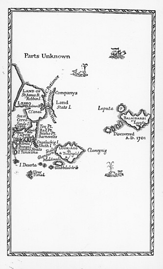gulliver s travels coloring pages - map of laputa balnibari luggnagg glub english school