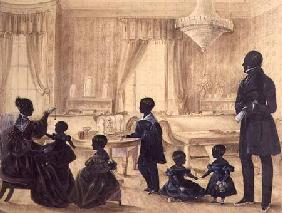 The Burrell Family in their house in Durham