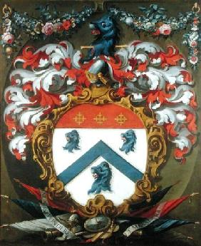 Coat of Arms of Sir Christopher Wren (1632-1723)