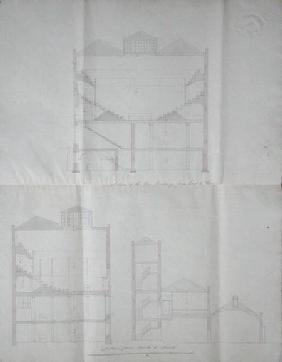 Contract drawing for the Lecture Theatre of the Royal Institution