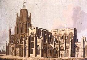 South East View of Redcliffe Church, Bristol
