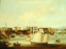View of the Foreign Factories, Canton
