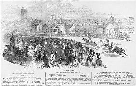 Warwick Races, from ''The Illustrated London News'', 12th April 1845