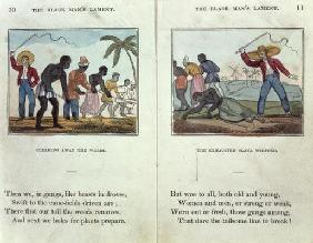 Illustration for the 'Black Man's Lament or How to Make Sugar' by Amelia Opie (1769-1853) 1813 (colo