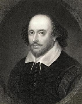 William Shakespeare (1564-1616) from 'The Gallery of Portraits', published 1833 (engraving)