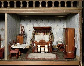 A bedroom in 'Mrs Bryant's Pleasure', c.1860 (mixed media)
