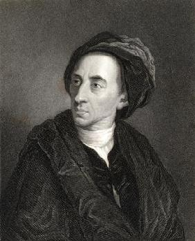 Alexander Pope (1688-1744) from 'The Gallery of Portraits', published 1833 (engraving)