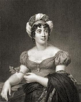 Anne Louise-Germaine Necker (1766-1817) from 'The Gallery of Portraits', published 1833 (engraving)