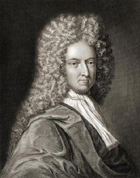 Daniel Defoe (1660-1731) from 'Gallery of Portraits', published in 1833 (engraving)