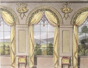 Dining room, plate 88 from Ackermann's Repository of Arts, published 1816 (colour litho)