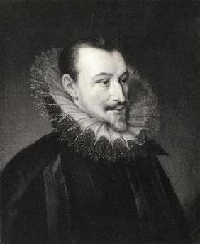 Edmund Spenser (c.1552/3-99) from 'Gallery of Portraits', published in 1833 (engraving)