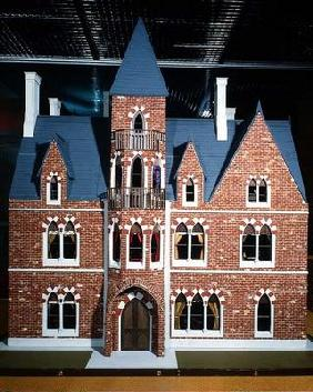 Exterior of Victorian Gothic doll's house, 1875 (mixed media)