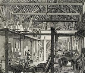 Interior View of John Bunyan's Meeting House in Zoar Street, Gravel Lane, Southwark, used as a works