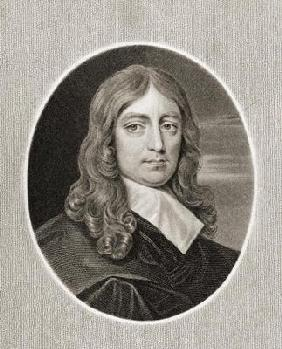 John Milton (1608-74) from 'Gallery of Portraits', published in 1833 (engraving)