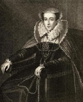Mary Queen of Scots (1542-87) (engraving)