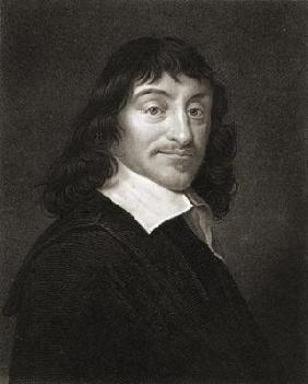 Rene Descartes (1596-1650) from 'The Gallery of Portraits', published 1833 (engraving)