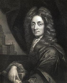Sir Christopher Wren (1632-1723) from 'Gallery of Portraits', published in 1833 (engraving)