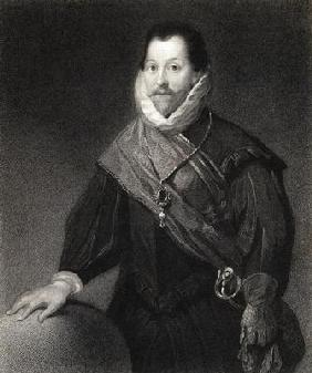 Sir Francis Drake (1540/3-96) from 'The Gallery of Portraits', published 1833 (engraving)