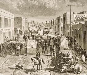 Street in Denver, Colorado, from 'American Pictures', published by The Religious Tract Society, 1876