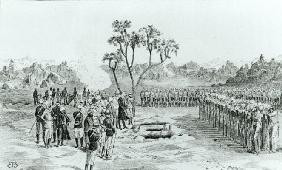 The Burial of General Earle and Colonels Eyre and Coveney at Kirbekan, from 'The Campaign of the Cat