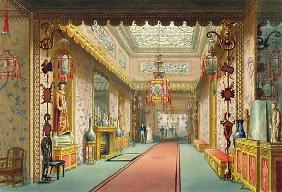 The Chinese Gallery, from 'Views of the Royal Pavilion, Brighton' by John Nash (1752-1835), 1826 (aq