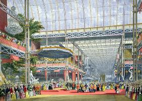The Inauguration, from 'Dickinson's Comprehensive Pictures of the Great Exhibition of 1851', publish