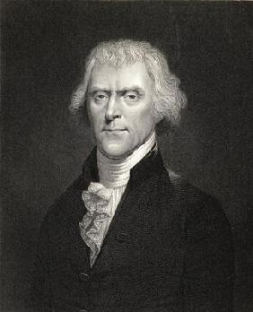 Thomas Jefferson, from 'Gallery of Portraits', published in 1833 (engraving)
