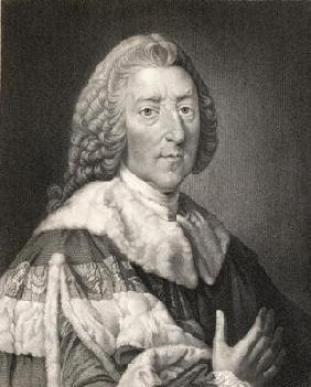 William Pitt the Elder (1708-78) 1st Earl of Chatham, from 'Gallery of E Portraits', published in 18