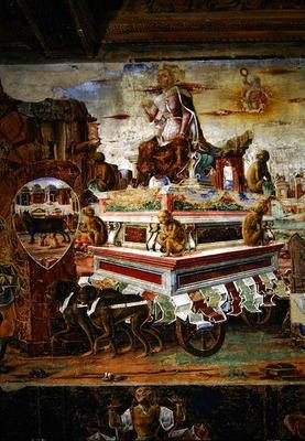 Detail of the Chariot of Maia, from September: The Triumph of Vulcan, from the Room of the Months, 1
